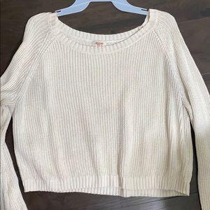 Cream cropped sweater